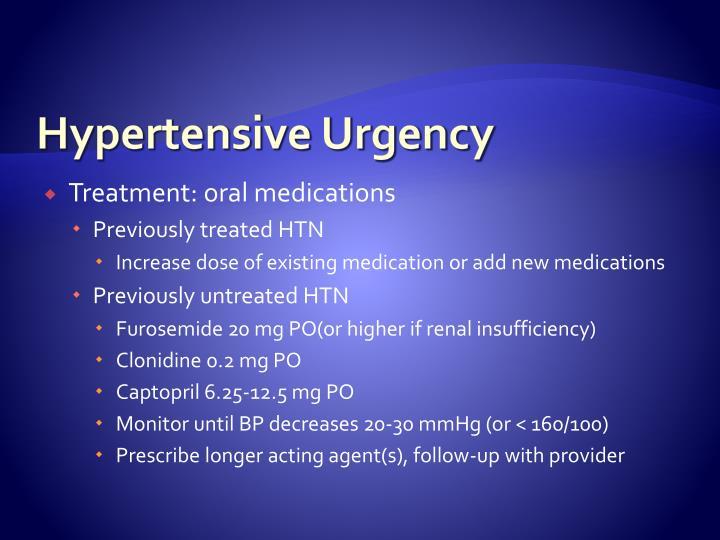 Hypertensive Urgency