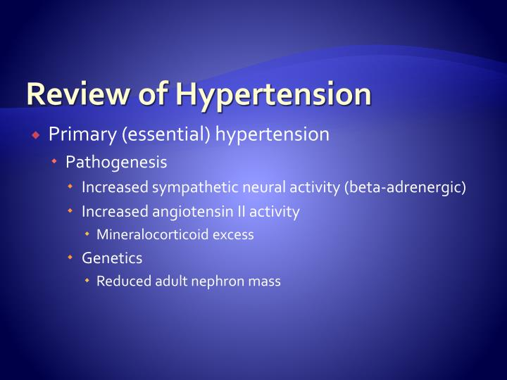 Review of Hypertension