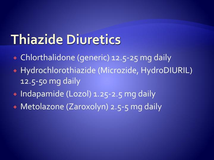 Thiazide Diuretics