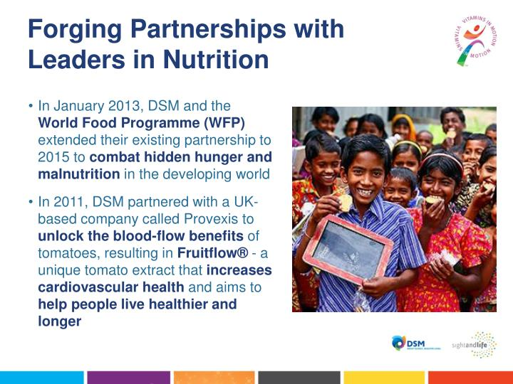 Forging Partnerships with Leaders in Nutrition