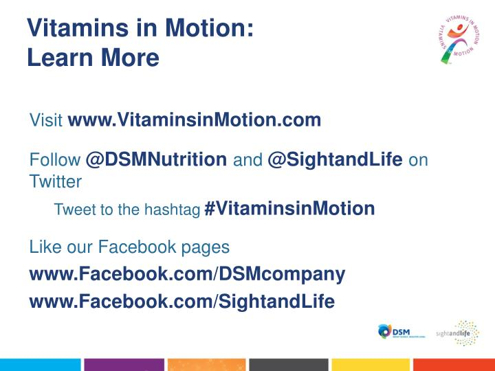 Vitamins in Motion: