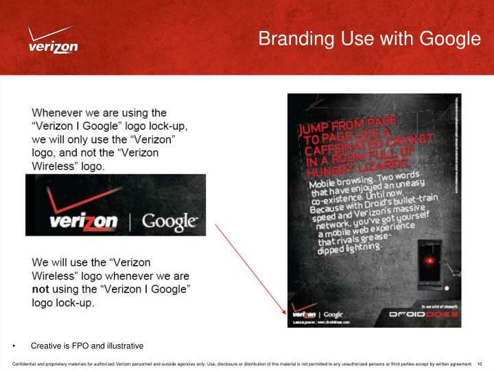 Branding Use with Google