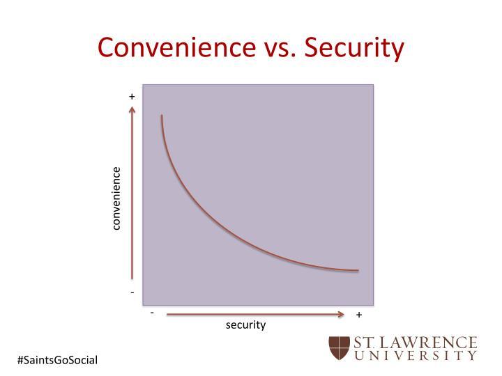 Convenience vs security