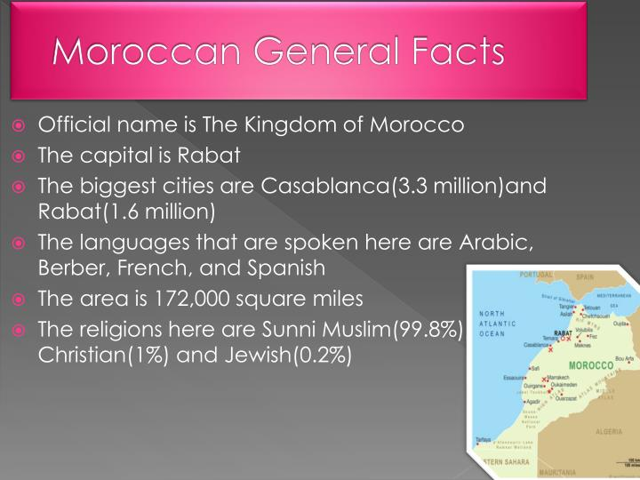 Moroccan general facts