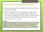 moroccan independence