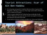 tourist attractions ksar of a t ben haddou