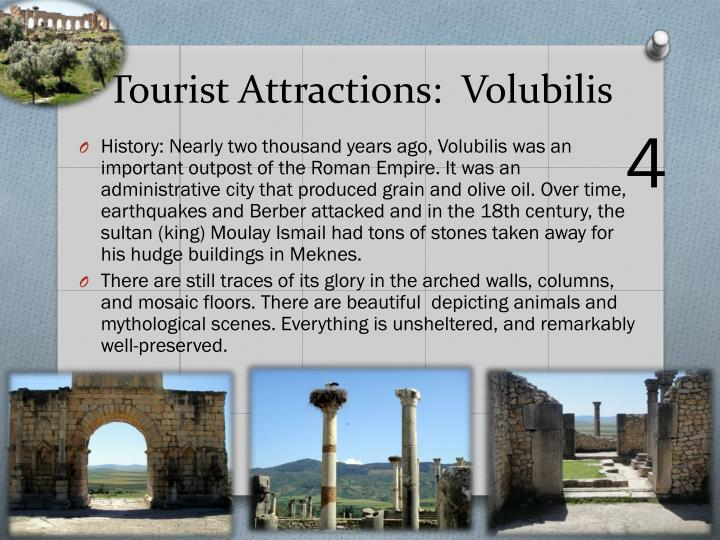 Tourist Attractions:  Volubilis