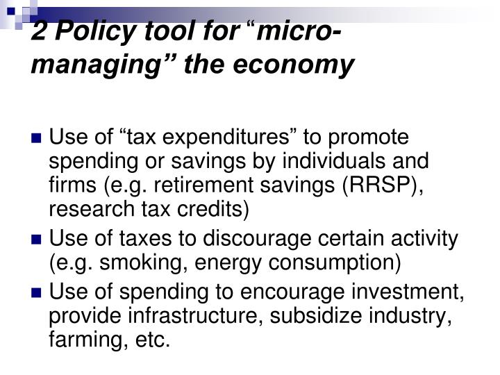 2 Policy tool for