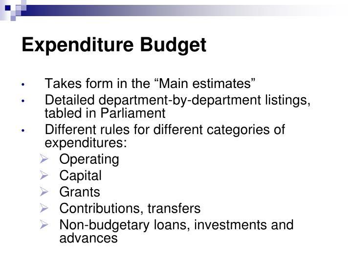Expenditure Budget