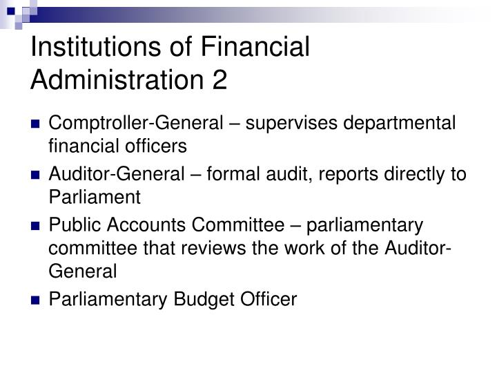 Institutions of Financial Administration 2