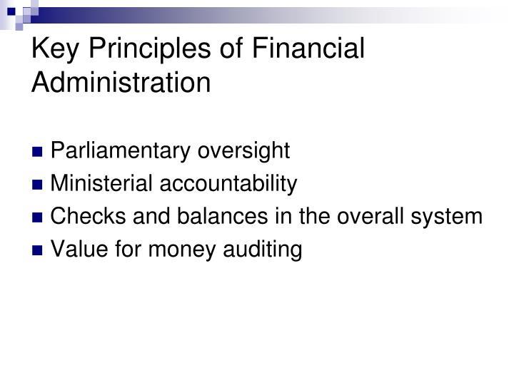 Key Principles of Financial Administration