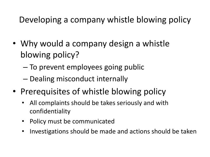 PPT - Whistle Blowing PowerPoint Presentation - ID:1857531