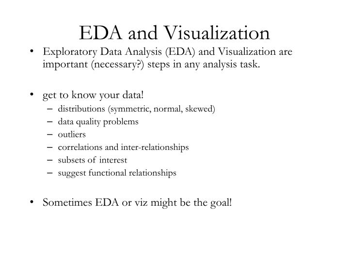 EDA and Visualization