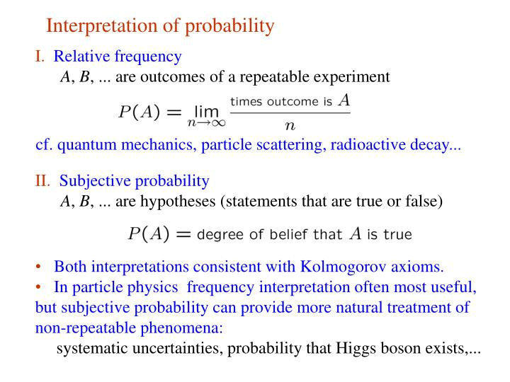 Interpretation of probability