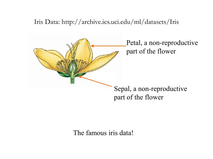 Iris Data: http://archive.ics.uci.edu/ml/datasets/Iris