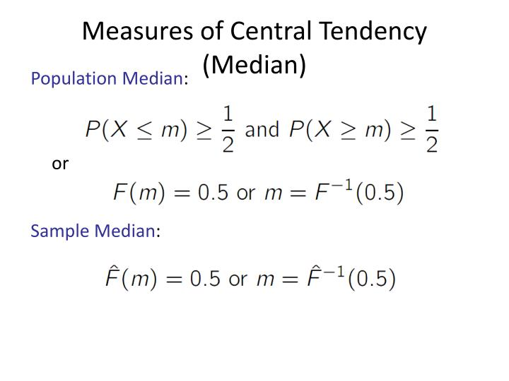 Measures of Central Tendency (Median)