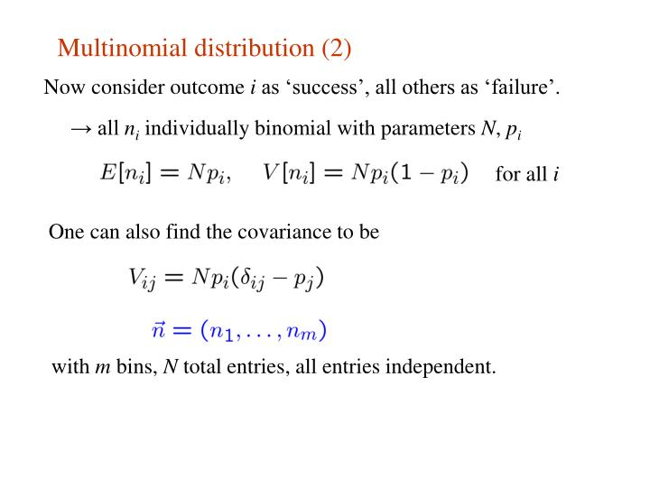 Multinomial distribution (2)