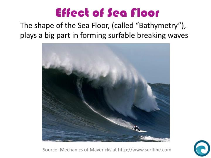 "The shape of the Sea Floor, (called ""Bathymetry""),"