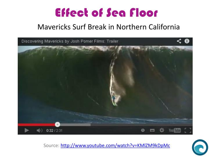 Mavericks Surf Break in Northern California