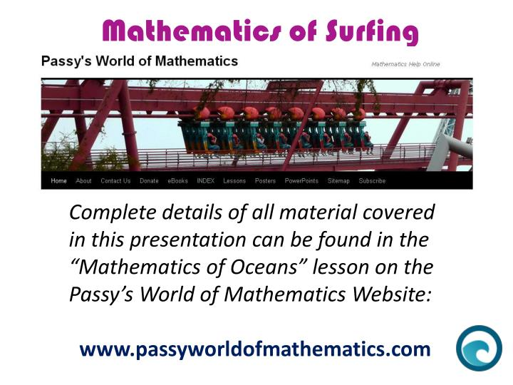 Mathematics of Surfing
