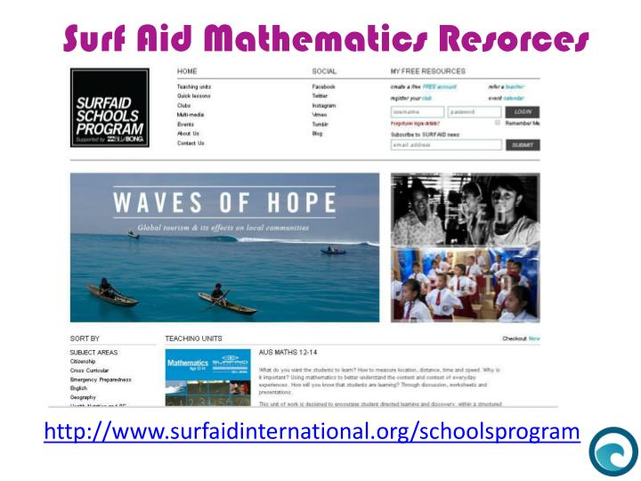 Surf Aid Mathematics