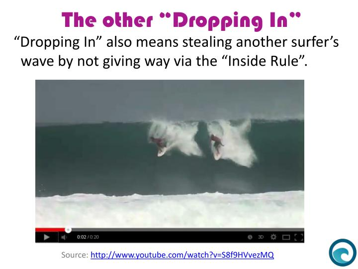 """Dropping In"" also means stealing another surfer's"