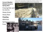 current weather related concerns spring 20132