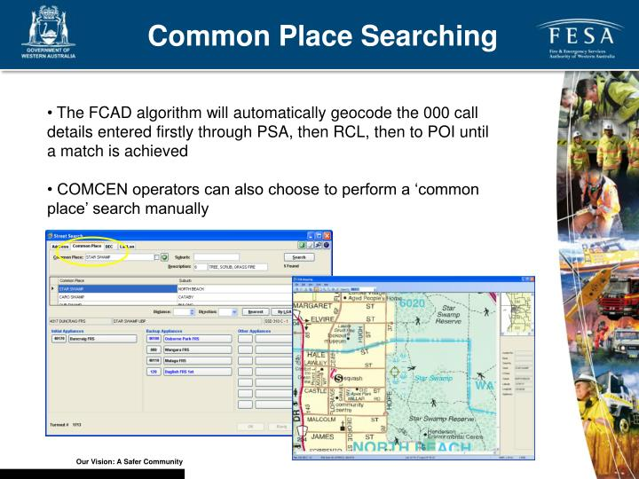 Common Place Searching