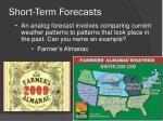 short term forecasts1