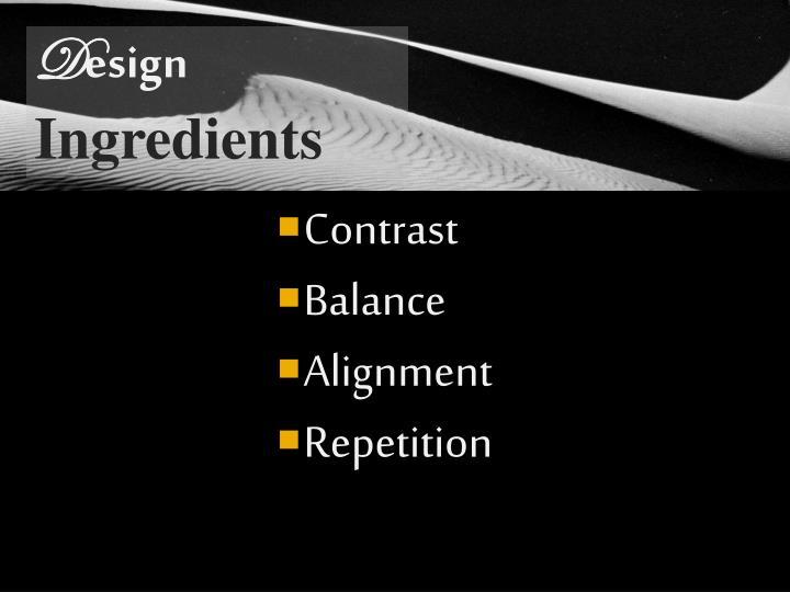 Principles of d esign