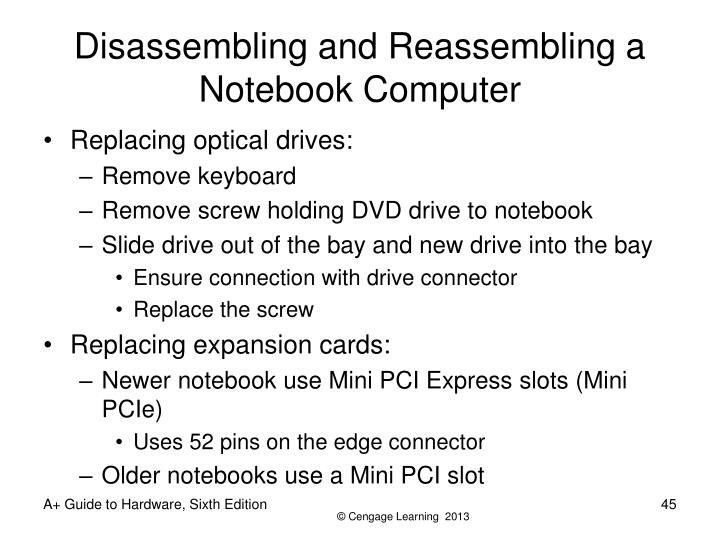 Disassembling and Reassembling a Notebook Computer