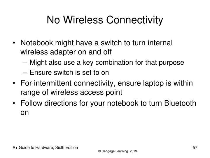 No Wireless Connectivity