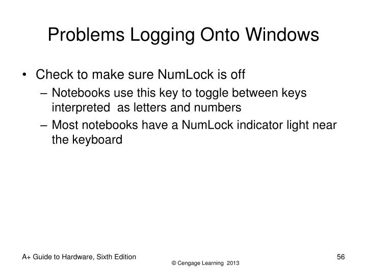 Problems Logging Onto Windows