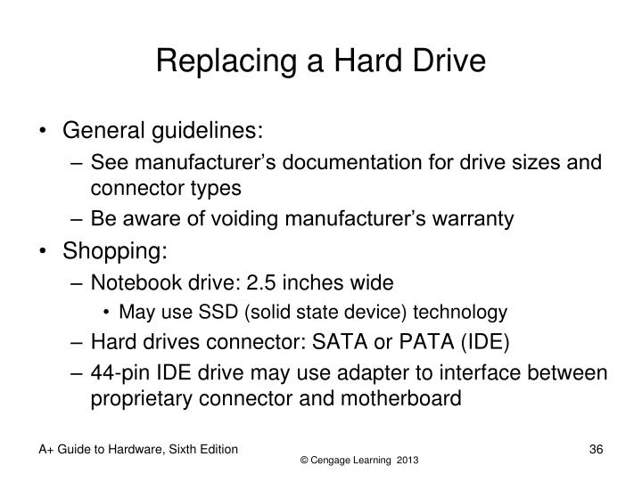 Replacing a Hard Drive