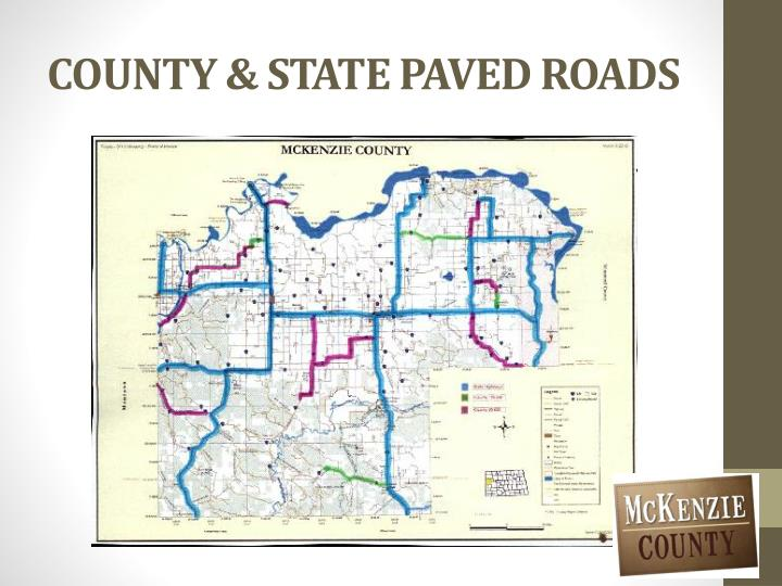 County state paved roads