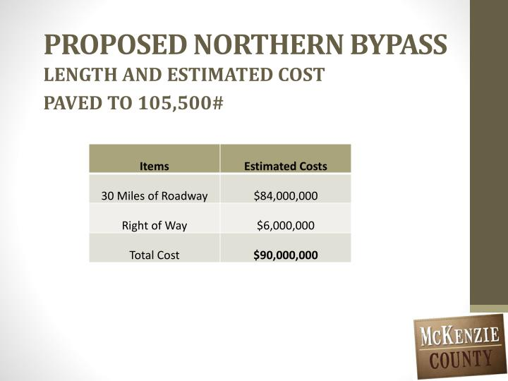 PROPOSED NORTHERN BYPASS