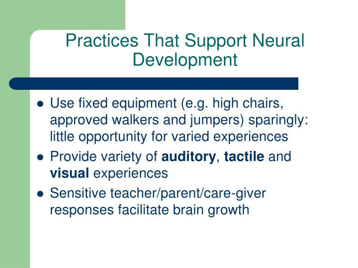 Practices That Support Neural Development