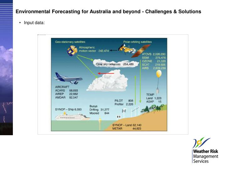 Environmental Forecasting for Australia and beyond - Challenges & Solutions