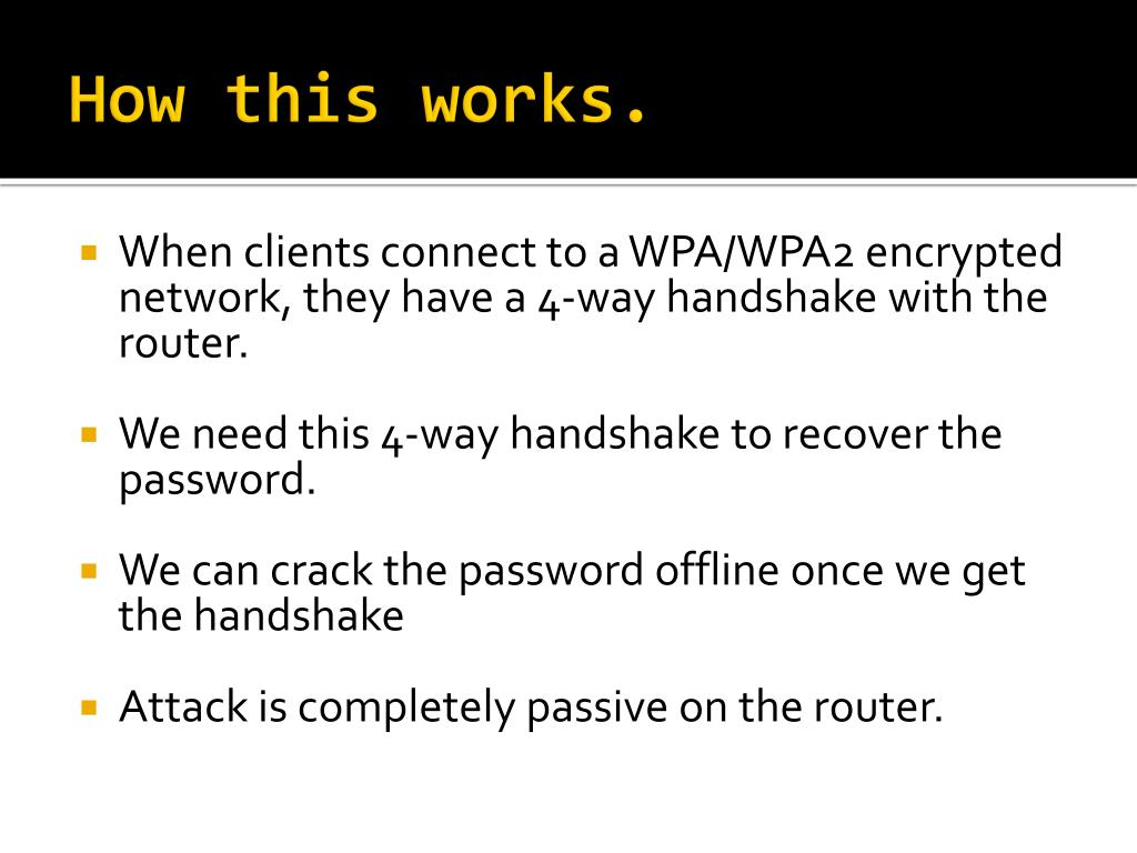 PPT - Wireless Hacking, Cracking WPA/WPA2 PowerPoint
