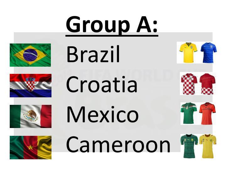 Group a brazil croatia mexico cameroon