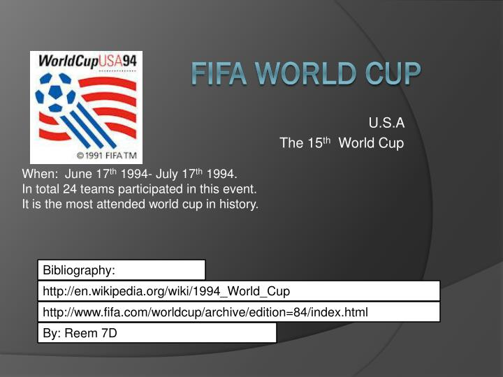 u s a the 15 th world cup n.