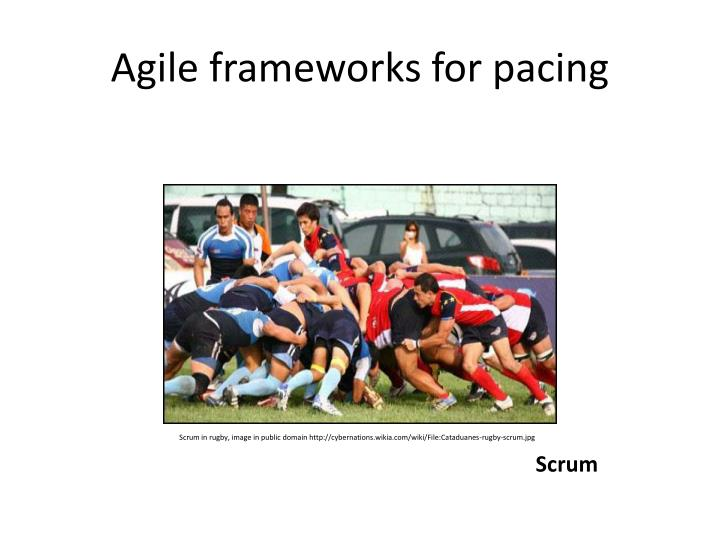 Agile frameworks for pacing
