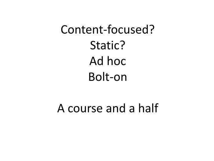 Content-focused?