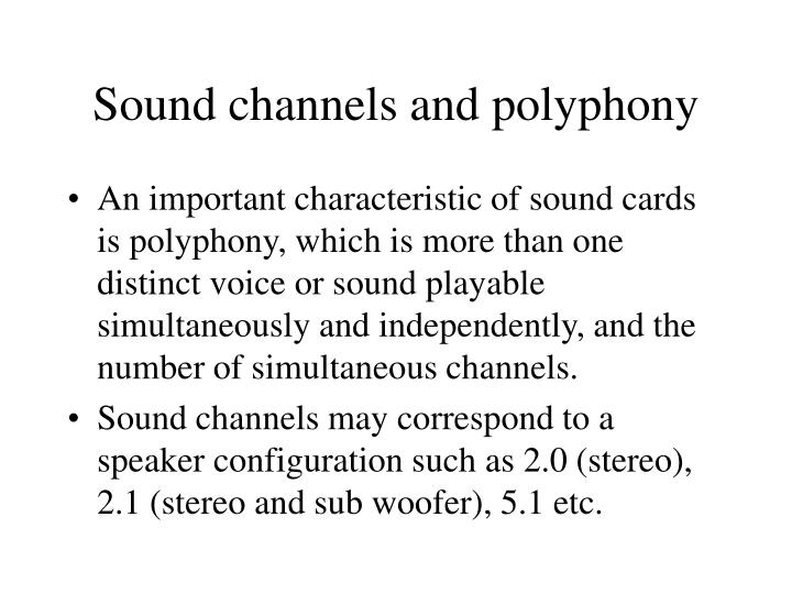 Sound channels and polyphony