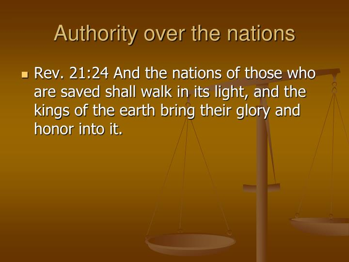 Authority over the nations
