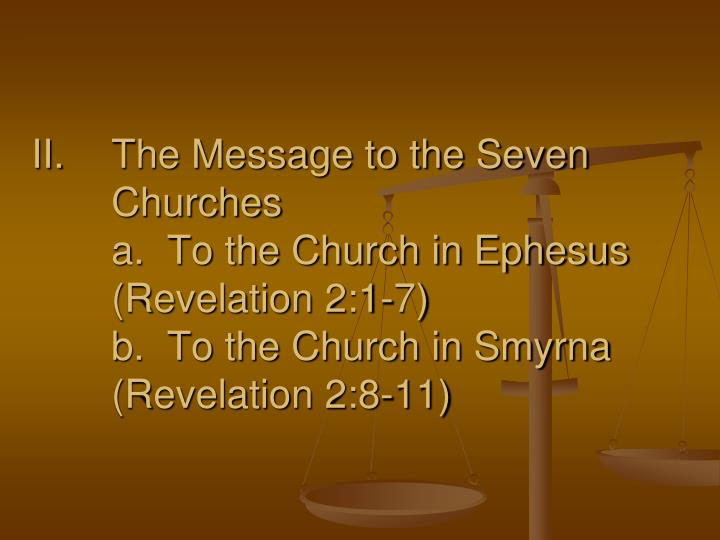 The Message to the Seven Churches