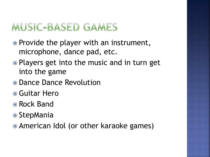 Music-Based games