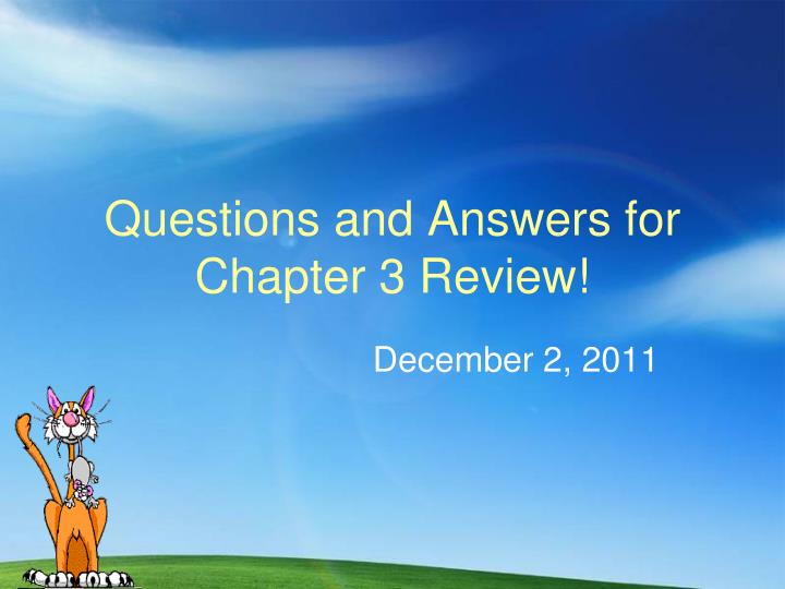 questions and answers for chapter 3 review n.