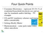 four quick points