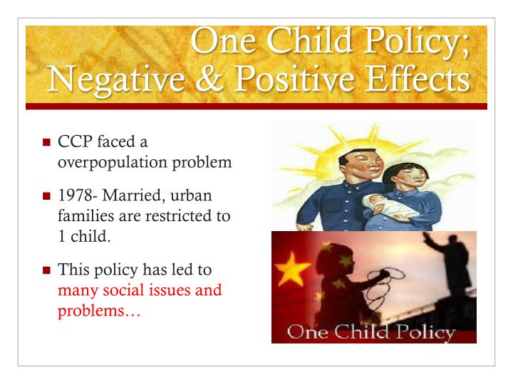 the effects of one child policy on Npr's robert siegel talks about the 35-year one-child policy's effects on chinese society with mei fong, author of the book one child: the story of china's most radical experiment.
